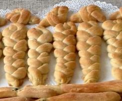 Trecce di pane-focaccia