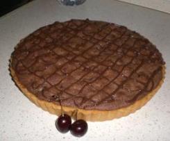 Crostata frangipane con ciliege e cioccolato