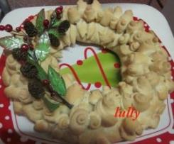 corona di rose (il centrotavola di Natale)
