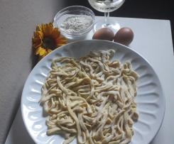 Pasta  fresca allo spumante brut contest vino
