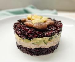 Tortino di riso venere, zucchine, fagioli e avocado - contest timballi di riso