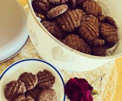 Biscotti al cioccolato e fiocchi d'avena