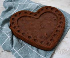 Cuore cioccolatoso - senza burro e uova