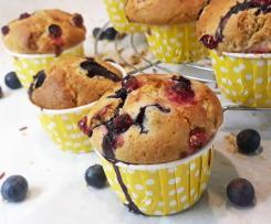 Muffin Vegan Senza Zucchero con Frutta Fresca