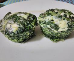 Finti muffin di spinaci e feta