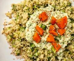 Cous cous con broccoli e crema di ricotta