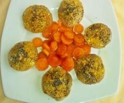 Cappellotti di rapa ripieni zucca e speck  con carote al balsamico