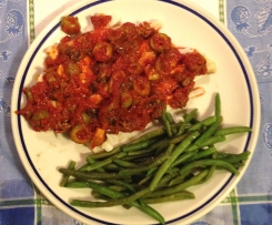 Merluzzo in salsa con capperi e olive
