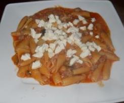 Castellane con salsiccia,melanzane e mozzarella