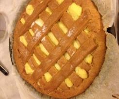 Crostata morbida all-arancia con farina di farro e integrale