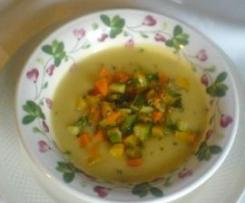 Passato con verdure croccanti