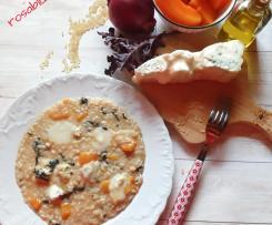 Risotto con insalata rossa  zucca Gorgonzola a modo mio