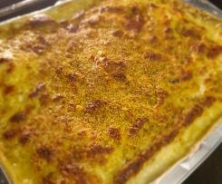 Lasagne di pasta fresca con pesto di pistacchio e besciamella