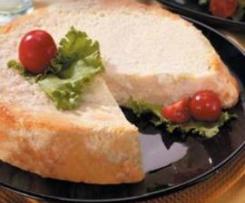 Sformato di pane con porri e crema al Parmigiano filante