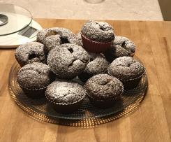 Muffin integrali al cioccolato e marmellata d'arance