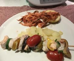 Menu completo di pesce /Contest monoporzione cottura a varoma