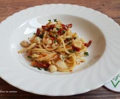 Spaghetti saporiti con merluzzo