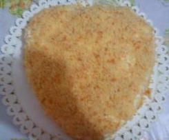 torta alla mimosa a forma di cuore