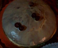 torta federica con sciroppo di amarena e cioccolato bianco