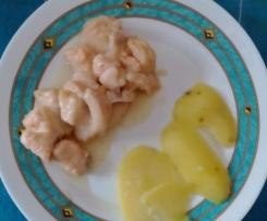 Bocconcini di salmone al vino e patate