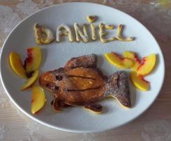 Pancake di Pesche (Proteici -Gluten Free - Riciclo Albumi) -contest fun food-