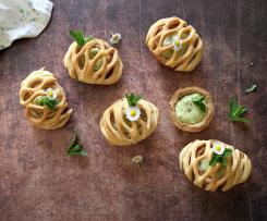 Tartellette vegetariane agli asparagi (contest buffet)