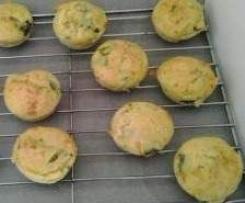 Muffin prosciutto cotto e asparagi
