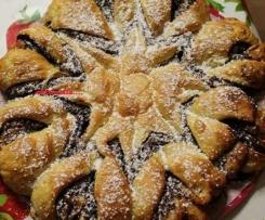 fiore di pan briosche alla nutella