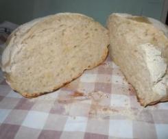 Pane senza impasto con pasta madre