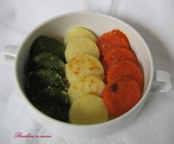 Gnocchi di semolino tricolore