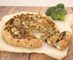 Torta rustica con broccoli e funghi