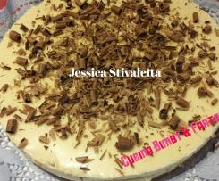 Cheesecake con crema white hippo