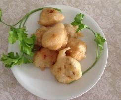 Crespelle salate ai funghi e alle acciughe, capperi e prezzemolo