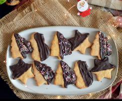 Biscotti Natalizi Con Farina di Mais e Mandorle (Senza Uova e Burro)