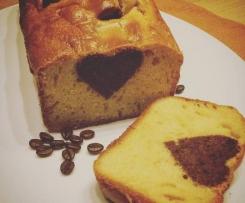 Plumcake soffice al caffé con cuore