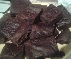 Brownie vegani di zucca e cioccolato