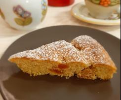 Torta all'arancia con albicocche essiccate (ricca di fibre e senza lattosio)