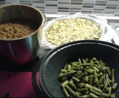 """Asparagi, frittata e lenticchie: scorta di """"schisete"""" per la settimana!"""