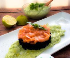 Riso Venere su salsa di avocado (Contest timballi di riso)