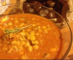 Zuppa al sapore di autunno (Ceci e castagne)
