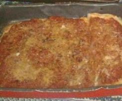 Pizza: sfincione palermitano