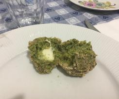 Polpette al forno con broccoli e mozzarella