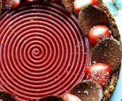 Cheesecake con tourbillon alle fragole