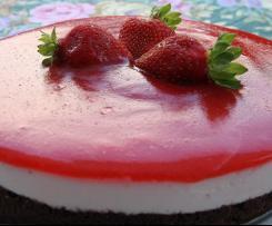 Torta fredda di yogurt alle fragole