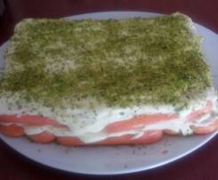 Tiramisù al pistacchio e alkermes - Contest tricolore
