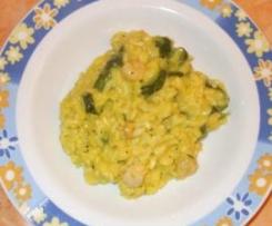 Risotto Giallo con Gamberetti e Zucchine