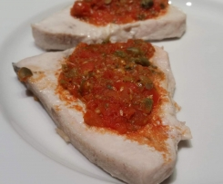 Pesce spada alla pizzaiola (ricetta light)
