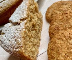 Torta latte caldo e biscotti