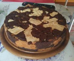 """Torta """"maculata"""" con doppia crema pasticcera"""