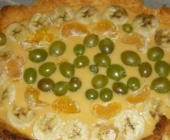torta di frutta con frolla di ricotta e crema al succo di frutta